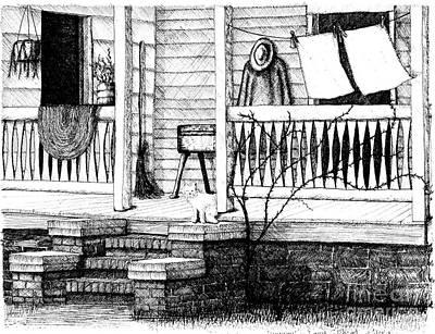 Amish Homestead Back Porch Art Print by Dawn Boyer