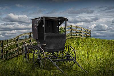 Amish Buggy Photograph - Amish Horse Buggy by Randall Nyhof