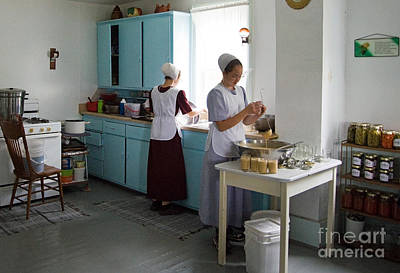 Amish Kitchen Art Print by Fred Lassmann