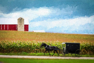 Art Print featuring the digital art Amish Paradise by Joel Witmeyer