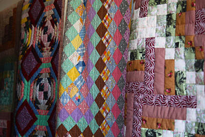 Photograph - Amish Quilts On Line by Robin Coventry