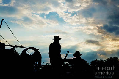 Photograph - Amish Silhouette by David Arment