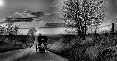 Photograph - Amish Sunset by William Griffin