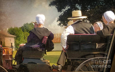 Amish Family Photograph - Amish Travelling by Beth Ferris Sale