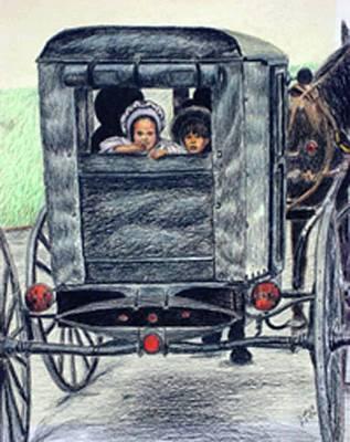 Amish Wagon Art Print by Sam Vega