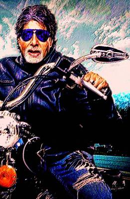 Pietyz Artworkz Painting - Amitabh Bachchan - Living Legend by Piety Dsilva