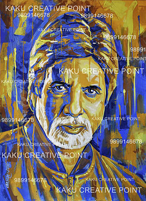 Amitabh Painting - Amitabh Bachchan Poster For Sale by Kamal Kaku