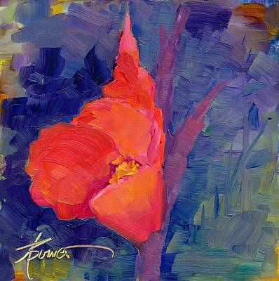 Gladiolas Painting - Amitava's Gift by Adele Bower
