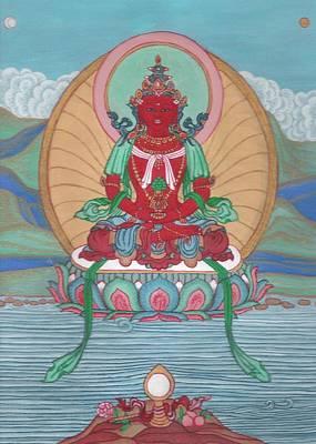 Tibetan Buddhism Painting - Amitayus by Marlies Bruin