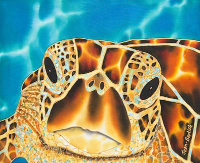 Sea Turtles Painting - Amitie Sea Turtle by Daniel Jean-Baptiste