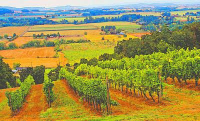 Vineyard Digital Art - Amity Oregon by Margaret Hood