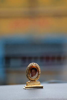 Amma Photograph - Amma On Dashboard, Amritapuri by Jennifer Mazzucco