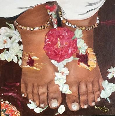 Amma's Feet Art Print by Ryszard Ludynia