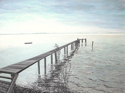 Ammersee In Bavaria - Symphony In Blue Original