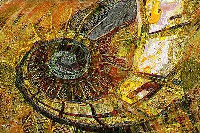 Prehistoric Painting - Ammonite by Anne Weirich