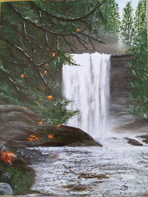 Painting - Ammonite Falls by Lorraine Bradford