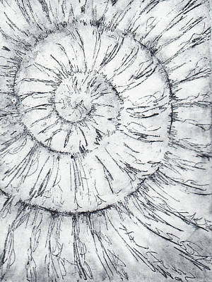 Painting - Ammonite No. 16 - 100 Ammonites Project by Lisa Le Quelenec