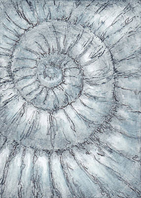 Painting - Ammonite No. 89 - 100 Ammonites Project by Lisa Le Quelenec