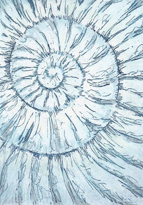 Painting - Ammonite No. 91 - 100 Ammonites Project by Lisa Le Quelenec