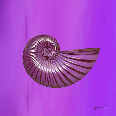Ammonite Quad Series Purple Art Print