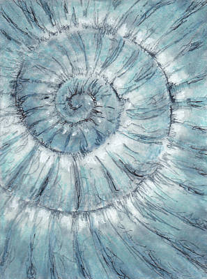 Painting - Ammoniteno.90 - 100 Ammonites Project by Lisa Le Quelenec