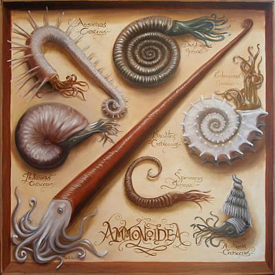 Wall Art - Painting - Ammonoidea by Ruth Hulbert