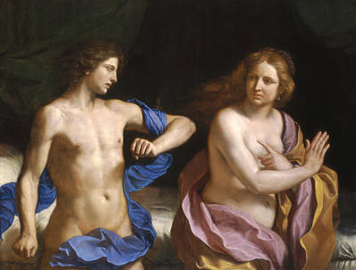 Giovanni Francesco Barbieri Painting - Amnon And Tamar by Giovanni Francesco Barbieri - Called Guercino
