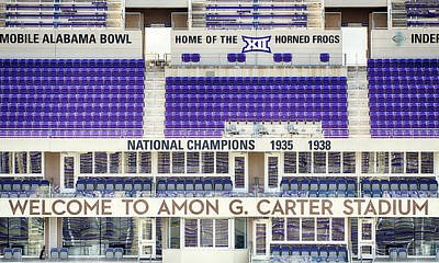Photograph - Amon Carter Stadium Tcu by Rospotte Photography