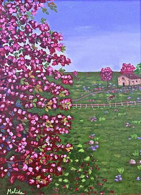 Among Blossoms Original by Melida Swart