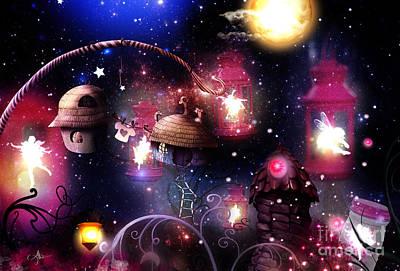 Digital Art - Among Fairies by Mo T