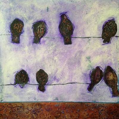 Mixed Media - Among Friends by Anne Stine