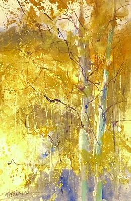Painting - Among The Aspens by Sandra Strohschein