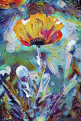 Mixed Media - Among The Poppies II by Susan Maxwell Schmidt