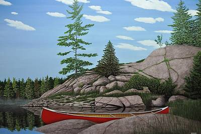 Painting - Among The Rocks II by Kenneth M Kirsch