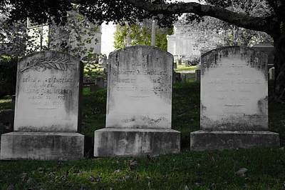Photograph - Among The Tombstones by Colleen Kammerer