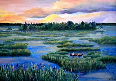 Amongst The Reeds Art Print by Renate Nadi Wesley