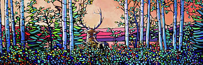 Wall Art - Painting - Amongst The Trees by Alison Newth