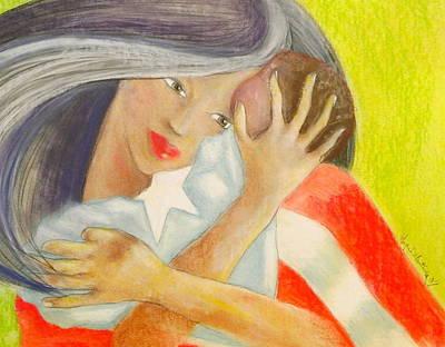 Amor Eterno Art Print by Mayra  Martinez