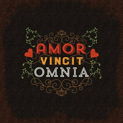 Amor Vincit Omnia Art Print by Antique Images