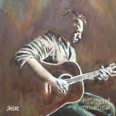 Painting - Amos Lee by Kathy Stiber