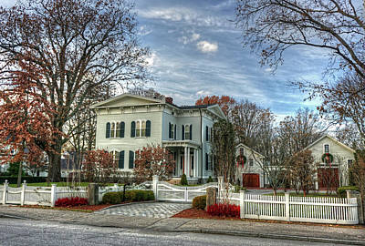 Photograph - Amos Tuck House In Late Autumn by Wayne Marshall Chase