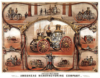 Royalty-Free and Rights-Managed Images - Amoskeag Manufacturing Company - Car - Vintage Advertising Poster by Studio Grafiikka