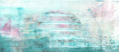 Painting - Amour - Contemporary Pastel Blue And Pink Bright Abstract Art Painting by Modern Art Prints