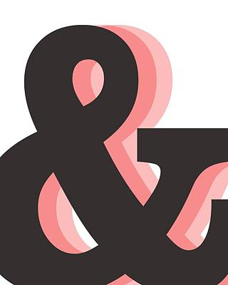 Royalty-Free and Rights-Managed Images - Ampersand - And Symbol 2 - Minimalist Print by Studio Grafiikka