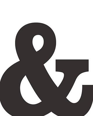 Mixed Media Royalty Free Images - Ampersand - And Symbol 3 - Minimalist Print Royalty-Free Image by Studio Grafiikka