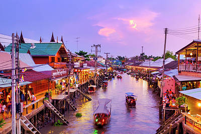Photograph - Amphawa Floating Market by Fabrizio Troiani