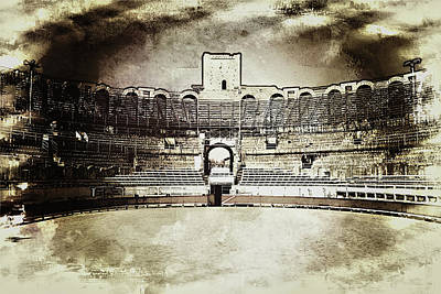 Photograph - Amphitheater Arles, France by Hugh Smith
