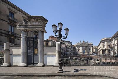 Amphitheater At Piazza Stesicoro Art Print