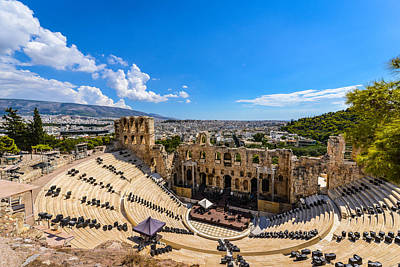 Photograph - Amphitheater Athens Greece by Carmen Tosca