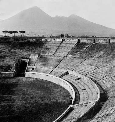 Amphitheater In Pompeii - Italy - C 1926 Art Print by International  Images